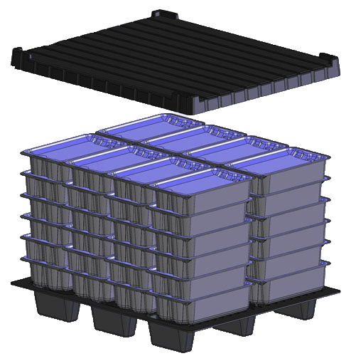 Heavy Gauge Thermoforming: Reusable Pallet Tote